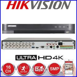 Hikvision 16ch 5mp 4k Uhd Cctv System Outdoor 20m Exir Night Vision Camera Kit