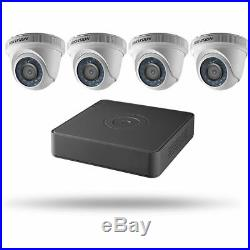 Hikvision 4CH Turbo HD DVR, 1TB HDD, 4 Outdoor Turret Cameras, Kit
