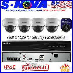 Hikvision 4 CH Channel NVR 2MP Dome IP POE Camera Security System 2TB (ORIGINAL)