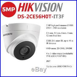 Hikvision 4ch 5mp 4k Uhd Cctv System Outdoor 40m Exir Night Vision Camera Kit