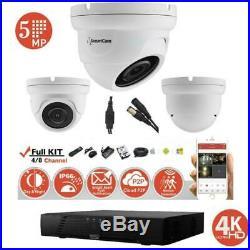 Hikvision 5MP CCTV Camera Night Vision Outdoor 4K DVR Home Security System Kit