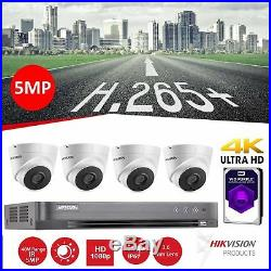 Hikvision 5MP CCTV HD 1080P DVR Home Security System Night Vision Outdoor Kit 1T