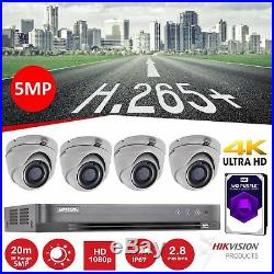 Hikvision 5MP CCTV Home DVR System 4K HD 1080P Outdoor Night Vision Security Kit
