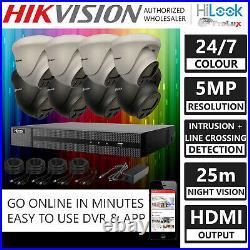 Hikvision 5MP CCTV System 4CH 8CH DVR ProLux Colour Night Vision Dome Camera Kit
