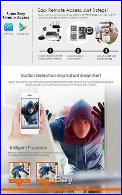 Hikvision 5mp 4k Uhd 4ch 8ch Dvr Night Vision Outdoor Cctv System Camera Kit Uk