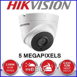 Hikvision 5mp Cctv System Uhd 4k Dvr 4ch 8ch Exir 40m Night Vision Camera Kit Uk
