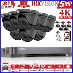 Hikvision 5mp Cctv System Ultrahd 4k Dvr 8ch Exir 20m Night Vision Camera Kit Uk