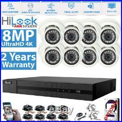 Hikvision 8CH DVR 4K 8MP CCTV Camera 25M Night Vision Home Security System Kit