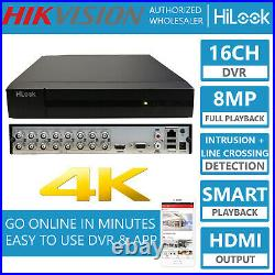 Hikvision 8MP 4K UHD 8CH 16CH DVR Dome Camera Professional CCTV System Kit Trade