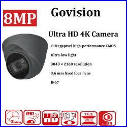 Hikvision 8MP CCTV System 4K Full HD DVR 4CH HD Outdoor Camera Home Security Kit