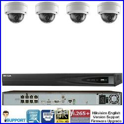 Hikvision 8 CH Channel 4K 8MP NVR with 4 x 4MP Dome IP POE Camera Security System