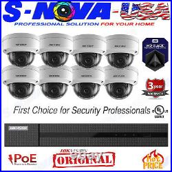 Hikvision 8 CH Channel 4K NVR 2MP Dome IP POE Camera Security System (ORIGINAL)