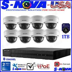 Hikvision 8 CH Channel 4MP NVR with 8 x 2MP Dome IP POE Camera Security System
