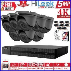 Hikvision 8ch 5mp 4k Ultrahd Cctv System Outdoor 20m Exir Nightvision Camera Kit