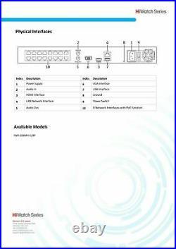 Hikvision 8mp Cctv System Ip Poe Uhd Nvr Full 4k 5mp 30m Nightvision Camera Kit