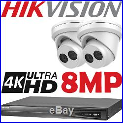 Hikvision 8mp Uhd 4k Nvr 30m Nightvision Outdoor Camera Security Cctv System Kit