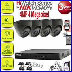 Hikvision CCTV 1440P 4MP Night Vision Outdoor DVR Home Security System Kit