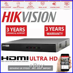 Hikvision CCTV 4CH HD DVR 1080P 2.4MP Outdoor Night Vision Security System Kit