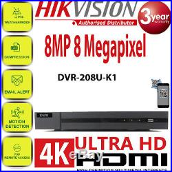 Hikvision CCTV 8CH HD 8MP 5MP Night Vision Outdoor DVR Home Security System Kit