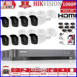 Hikvision CCTV FULL HD 1080P Night Vision Outdoor DVR Home Security System Kit