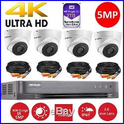 Hikvision CCTV HD1080P 5MP Night Vision H. 265+ DVR Home Security System Kit 8CH