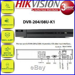 Hikvision CCTV HD 1080P 5MP Night Vision Outdoor DVR Home Security System Kit