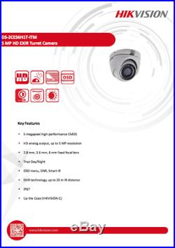 Hikvision CCTV HD 1080P 5MP Night Vision Outdoor DVR Home Security System Kit^