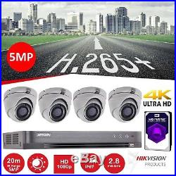 Hikvision CCTV HD 1080P 5MP Night Vision Outdoor DVR Home Security System Kit 2T