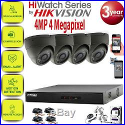 Hikvision CCTV HD 1440P 4MP Night Vision Outdoor DVR Home Security System Kit