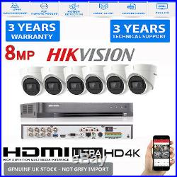 Hikvision CCTV HD 4K UHD 8MP Night Vision Outdoor DVR Home Security System Kit