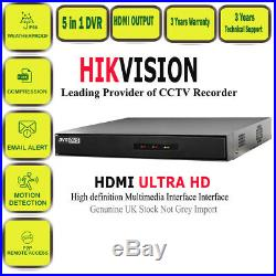 Hikvision CCTV HD DVR 1080P 2.4MP Night Vision Outdoor Home Security System Kit