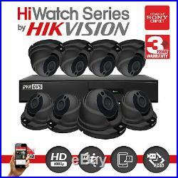 Hikvision CCTV HD HiWatch DVR 1080P 2.4MP Night Vision Outdoor Home Security Kit