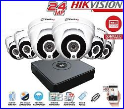 Hikvision CCTV KIT 4CH 8CH HD 1080P 2.4MP Night Vision DVR Home Security System