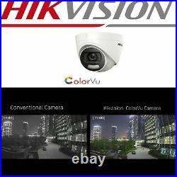 Hikvision COLORVU CCTV KIT 4CH 4K 5MP SYSTEM DVR Dome Camera DS-2CE72HFT-F IP67