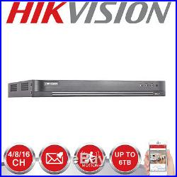 Hikvision Cctv 4mp System 4ch 8ch 16ch Dvr Turret Dome Night Vision Camera Kit