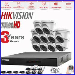 Hikvision Cctv System 4ch 8ch 16ch Dvr Dome 20m Night Vision Camera Full Kit