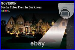 Hikvision Cctv System Ip Poe 4ch 8ch Nvr Camera 5mp 24/7colorful Nightvision Kit