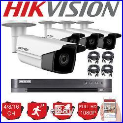 Hikvision Cctv System Kit 4ch 8ch 16ch Dvr 1080p Bullet Camera 40m Night Vision