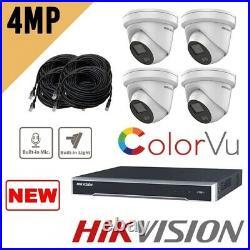 Hikvision Colorvu Ip Nvr 4ch 8ch 16 Ch Ip Poe Cctv System Uhd 4k 4mp Cctv Kit