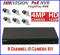 Hikvision DS-7608NI-E2/8P 8CH NVR & 6pcs DS-2CD2042WD-I 4MP Bullet Camera Kit