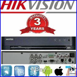 Hikvision DVR CCTV 4MP HD Cameras NightVision Outdoor Home Security System Kit