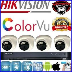 Hikvision Dvr 4k Viper Pro 5mp Colorvu Cameras Cctv System Night Vision Kit Uk