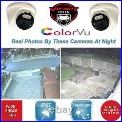 Hikvision Dvr 4k Viper Pro 5mp Colorvu Cameras In / Outdoor Night Vision Kit Uk