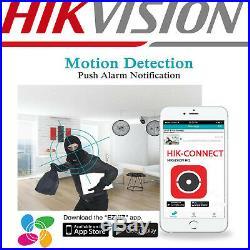 Hikvision Dvr 4k Viper Pro 5mp Colorvu Cameras Night Vision Cctv System Kit Uk