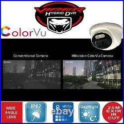 Hikvision Dvr 4k Viper Pro 8mp Colorvu Cameras Cctv System Night Vision Kit Uk