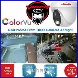 Hikvision Dvr Kit 8mp 4k Viper Pro Colorvu Cameras Night Vision Cctv System Uk
