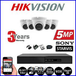 Hikvision HiWatch DVR 4K 5MP CCTV Dome Camera Night Vision Outdoor Security Kit