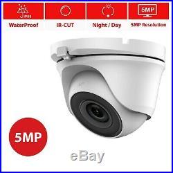 Hikvision Hilook 5mp 4k Uhd 4ch Dvr Outdoor Night Vision Cctv System Camera Kit