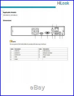 Hikvision Hilook 5mp Cctv System Uhd 4k Dvr 4ch Exir 40m Night Vision Camera Kit