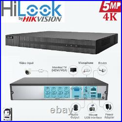 Hikvision Hilook 5mp Cctv System Uhd Dvr 4/8ch Colorful Night Vision Camera Kit